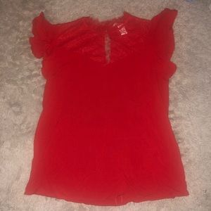 H&M Size Small red lace tee shirt